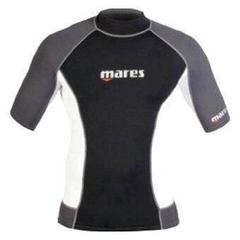 Mares Men's Lycra Trilastic Rash Vest /Short Sleeve Black/White