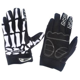 360DSC Slip-Resistant Bone Skeleton Racing Riding Cycling Full Finger Gloves Bicycle Bike Sports Skull Glove