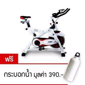 360 Ongsa Fitness จักรยานปั่นออกกำลังกาย SPIN BIKE 18 KG. AM-S2000T - ดำ/ขาว (ฟรี กระบอกน้ำ)