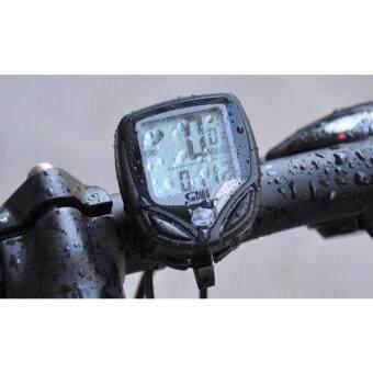 LOVEYOUunding ไมล์จักรยานไร้สายวัดความเร็วระยะทาง มัลติฟังก์ชั่น กันน้ำ water proof - กรอบแดง 1 pcs