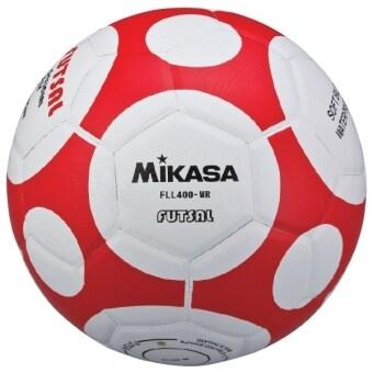 MIKASA ฟุตซอล Futsal รุ่น MKS PVC FLL400 - White/Red