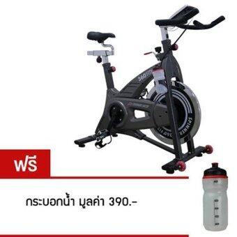 360 Ongsa Fitness จักรยานนั่งปั่นออกกำลังกาย HP-SP0708 สีดำ 22 KG. (ฟรี กระบอกน้ำ)