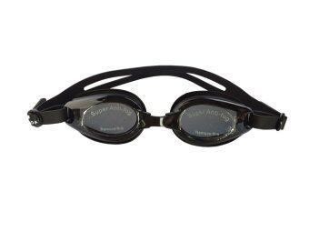 RUJI Goggles แว่นตาว่ายน้ำ แว่นดำน้ำ แว่นว่ายน้ำ แว่นกันน้ำ สายรัดคุณภาพดี - สีดำ