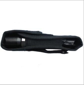Amango Enduring Best Nylon Holster Case Belt Velcro Pouch for Flashlight Black
