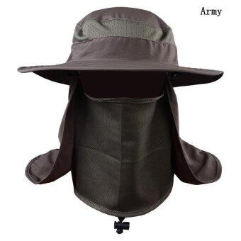 BUYINCOINS Wide Brim Hat Camping Fishing Outdoor Sport Sun UV 360° Protection Cap Unisex - intl