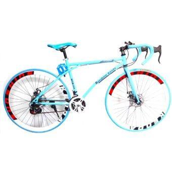EXPERT GROUP จักรยานเสือหมอบ ล้อ 700C 21 SPEEDS รุ่น MTB - 111 ( สีฟ้า )