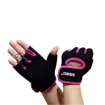 Elit AOLIKES ถุงมือฟิตเนส Fitness Glove Weight Lifting Gloves (Pink) image