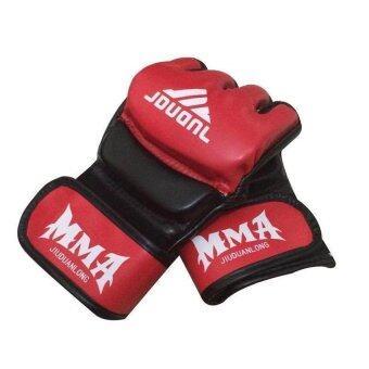 Avarin นวมชกมวยผสมศิลปะการต่อสู้ มวยถุงมือคิกบ็อกซิ่ง MMA สไตล์ UFC (สีแดง)