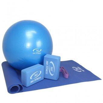 360 Ongsa Fitness ชุดอุปกรณ์ออกกำลังกายโยคะ MB-35019 (สีน้ำเงิน) image