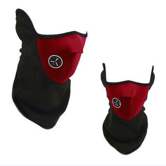 360DSC Bicycle Riding Face Mask Neck Warmer Wind Protection Mask for Outdoor Sports in Winter - Red