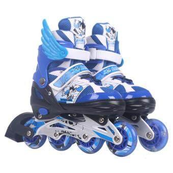 รองเท้าสเก็ต โรลเลอร์เบลด Roller Blade Skate D202 รุ่น L=37-42 - Blue