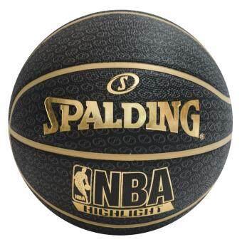 ลูกบาส Spalding NBA Highlight Gold (NEW) แถมฟรี ที่สูบลม Spalding มูลค่า 150 บาท