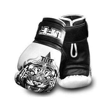 Tuff MuayThai Gloves Tiger - White