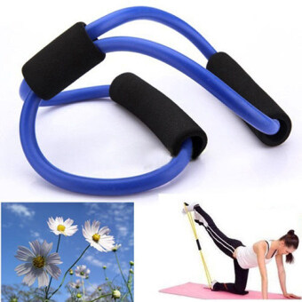 Aukey Resistance Exercise Elastic Band Tube Weight Control Fitness Equipment For Yoga (Intl) image