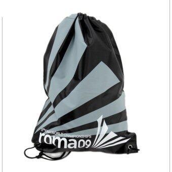 Swimming Drawstring Beach Bag Sport Gym Waterproof Backpack Duffle Black