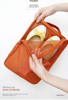 PACRO กระเป๋าใส่รองเท้า สำหรับเดินทาง ใส่ได้ 3 คู่ - สีส้มอิฐ (image 1)