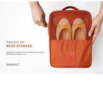 PACRO กระเป๋าใส่รองเท้า สำหรับเดินทาง ใส่ได้ 3 คู่ - สีส้มอิฐ (image 2)