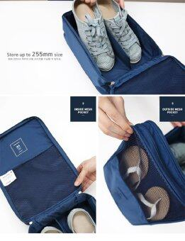 PACRO กระเป๋าใส่รองเท้า สำหรับเดินทาง ใส่ได้ 3 คู่ - สีส้มอิฐ (image 3)