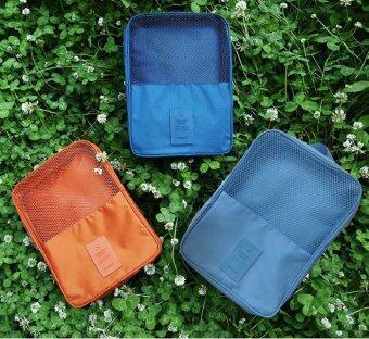 PACRO กระเป๋าใส่รองเท้า สำหรับเดินทาง ใส่ได้ 3 คู่ - สีส้มอิฐ (image 4)