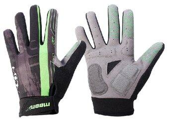 JinGle Moon ST-34 Autumn and winter Bicycle gloves Anti-seismic and breathable gloves Size M (Green)