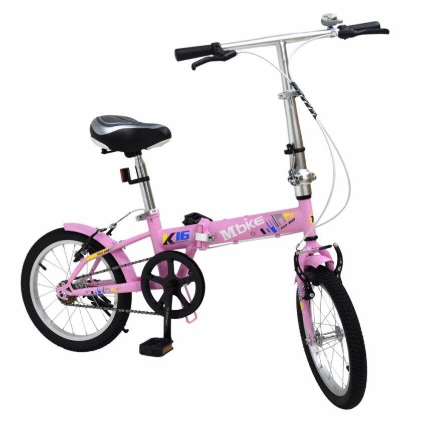 aaa K-BIKE จักรยานพับได้ FOLDING BIKE 16 นิ้ว 1 Speed รุ่น 16K101 MBIKEชมพู Sbobet