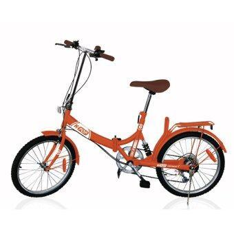 K-POP จักรยานพับ 20นิ้ว 3 Speed Brick รุ่น KP-2003YST-OB ( Orange )