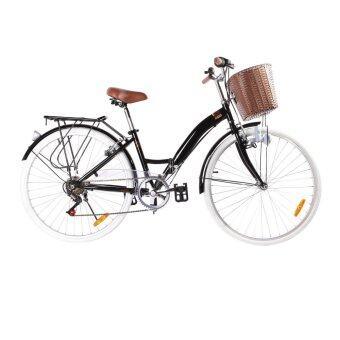 K-POP จักรยานพับ City Bike 26 นิ้ว รุ่น KP-2606YCB-BK (สีดำ)