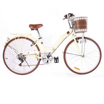 K-POP จักรยานพับ City Bike 26 นิ้ว รุ่น KP-2606YCB-OW (ครีม)