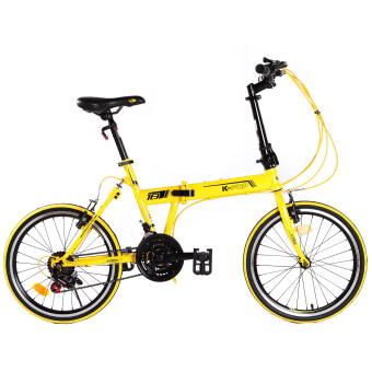 K-POP จักรยานพับ Sport 20 นิ้ว รุ่น KP-2005TSP18YL (สีเหลือง)