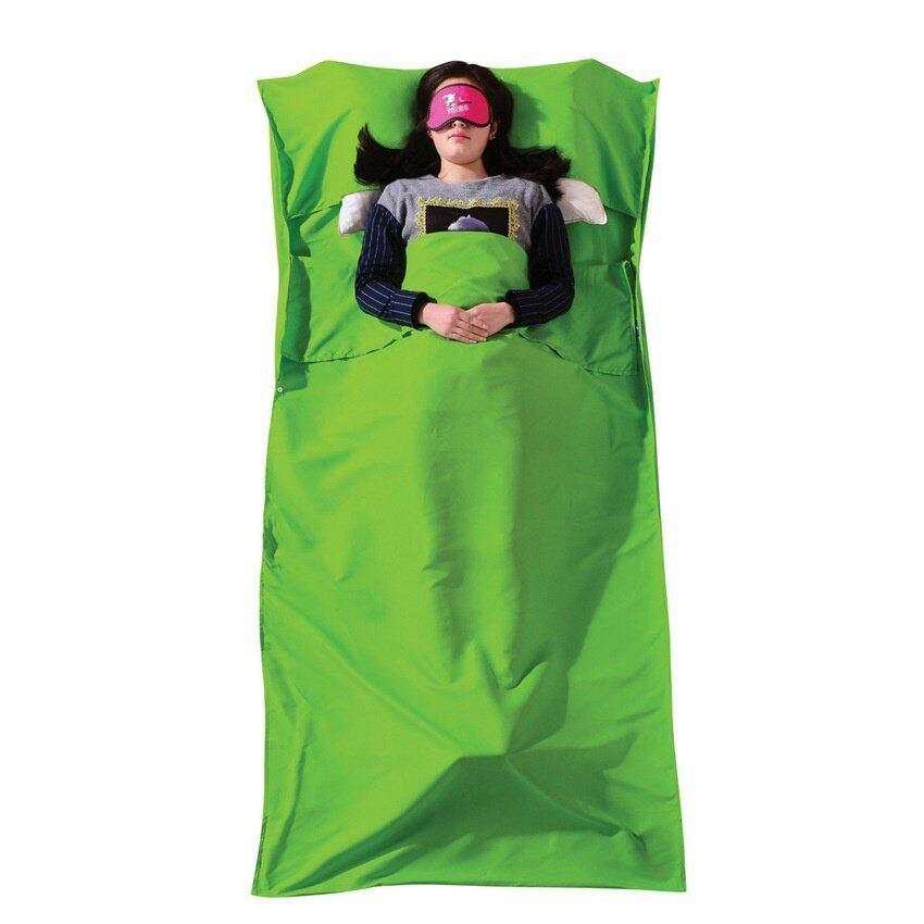 Korean Cotton Sleeping Bag Comfortable Cool Sleep Envelop - OutdoorHiking Camping Night - Green - intl