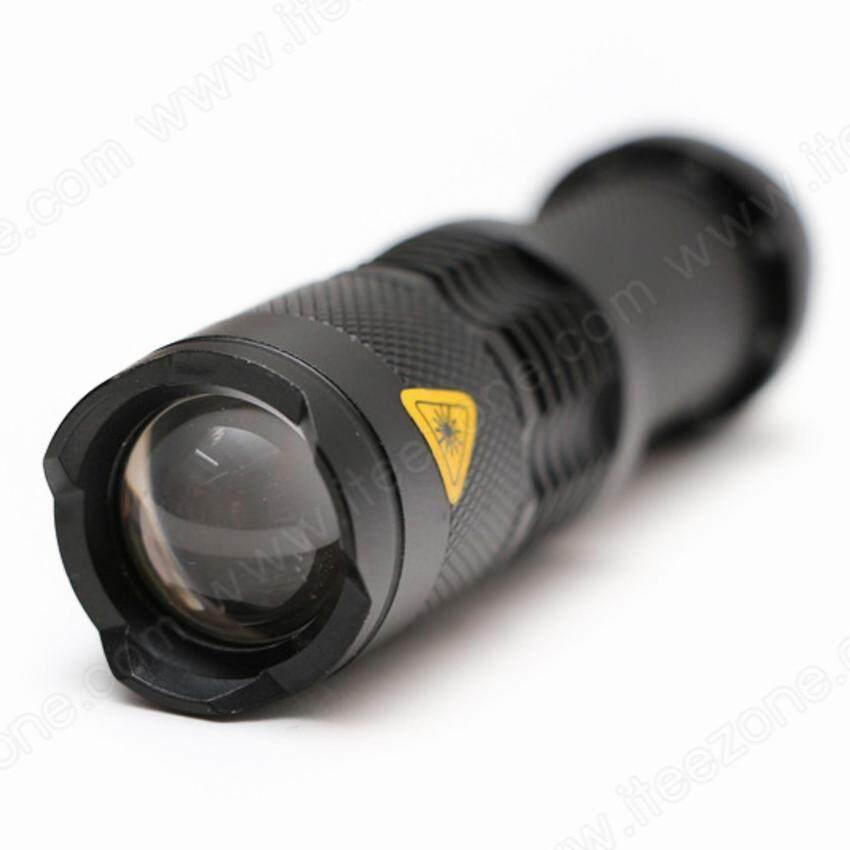 ไฟฉาย LED CREE Q5 สว่าง 1200LM ปรับ Zoom ได้ ปรับแสงได้ 3 โหมด กันน้ำ