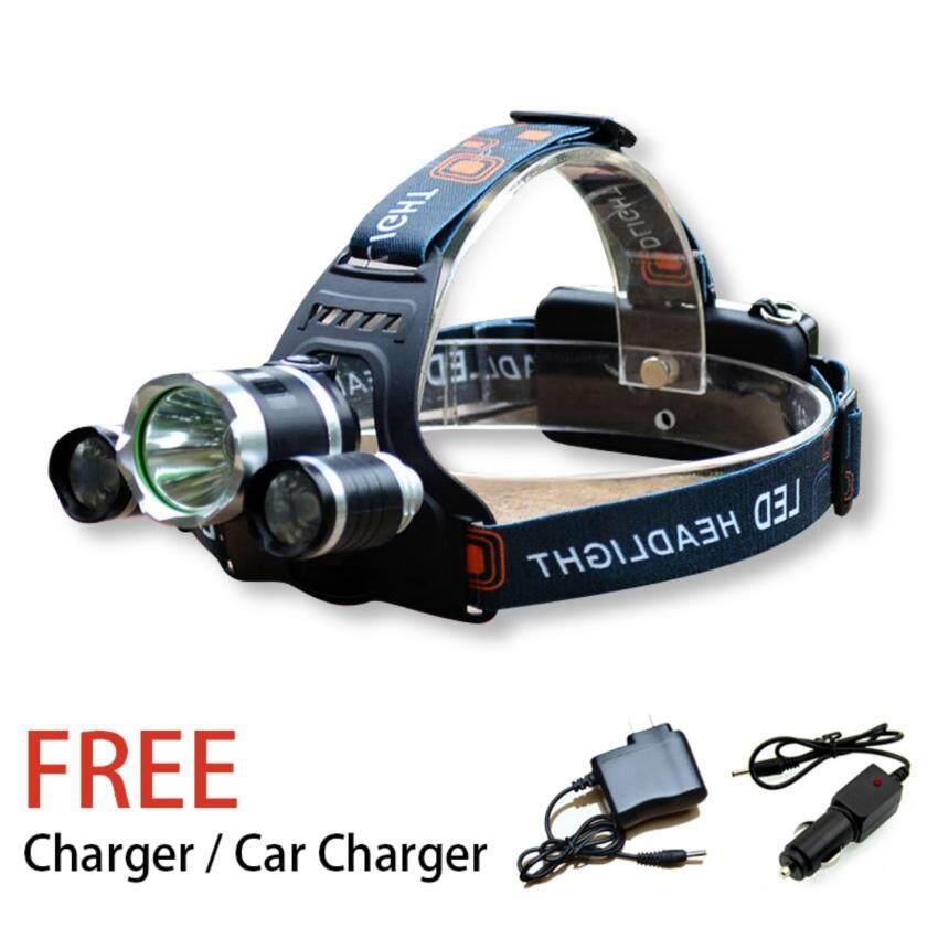 LED Headlight CREE-T6+Q5 Headlight Outdoor HeadLamp - intl
