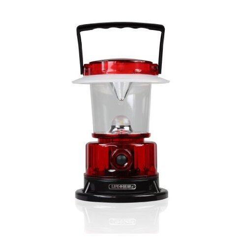 Life Gear LED Lantern with 3 Light Modes (Lantern, Red Glow, Emergency Flasher), Collapsible Hook, Water Resistant, Red, LG447COM- 2 PACK