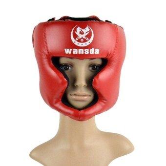 MF Sunweb Red Closed Type Boxing Helmetheadguard/Traininghelmet/Mma/Muay Thai Kickboxing Brace/Headprotection - intl