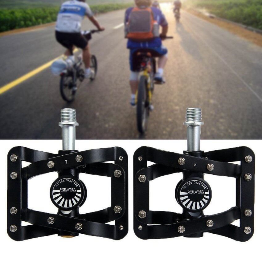 MiniCar TAVTA Bike MTB Aluminum Alloy Pedals 3 Bearings Footrest - One Pair Black(Color:Black) - intl