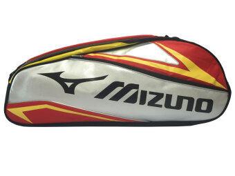 MIZUNO กระเป๋าแบดมินตัน (สีแดง/เงิน/เหลือง)