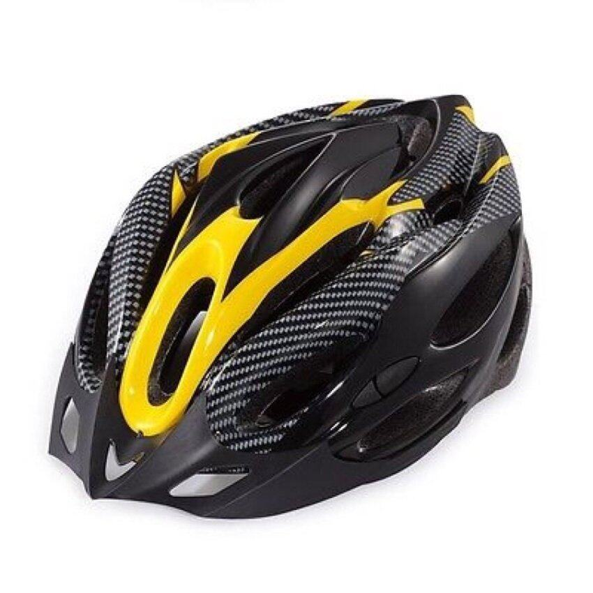 Morning หมวกจักรยานพร้อมกะบังหมวก รุ่น H-18 ( Yellow )