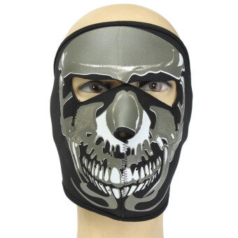 Neoprene FULL Face Reversible Biker Skateboard Motor Bike Ski Scary Sport Mask I Style - Intl