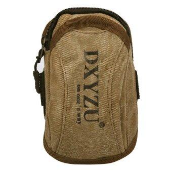 New Retro Alphabet Zipper Casual Canvas Wrist bag Arm package Phone Bag L - intl
