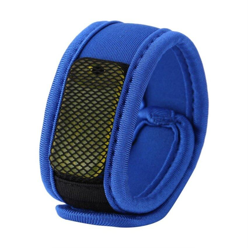 Nylon Anti Mosquito Insect Wrist Band With 4 Refill Pellets (blue) - intl