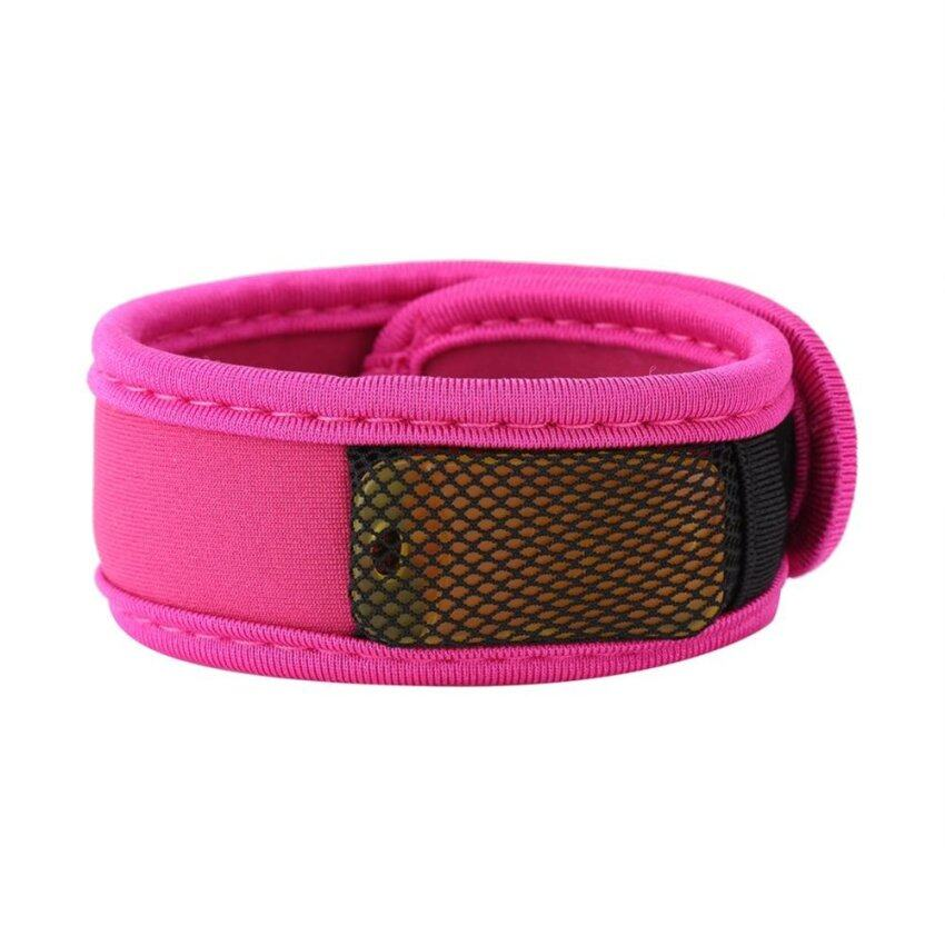 Nylon Mosquito Insect Repellent Wrist Band With 4 Refill Pellets (rose red) - intl