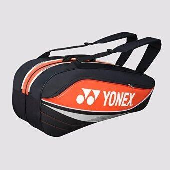 onex Tournament Basic Series BAG7526EX Racquet Bag(can hold 6 racquets)-Orange/Black