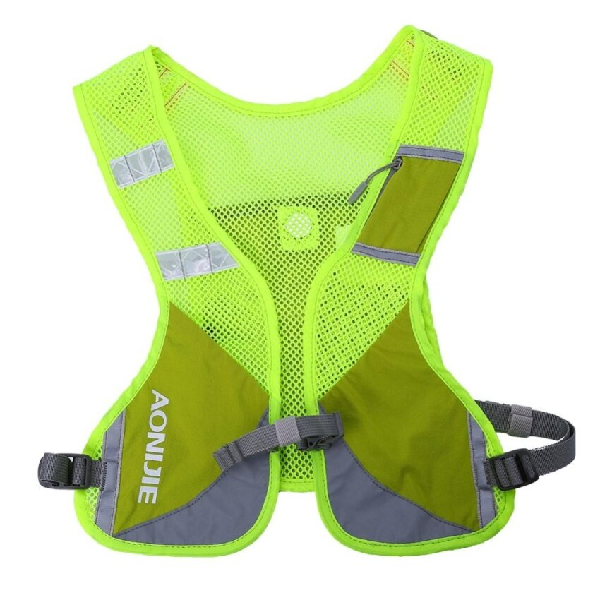 Outdoor Reflective Running Water Hydration Backpack Hiking Cycling Vest (fluorescent green) - intl