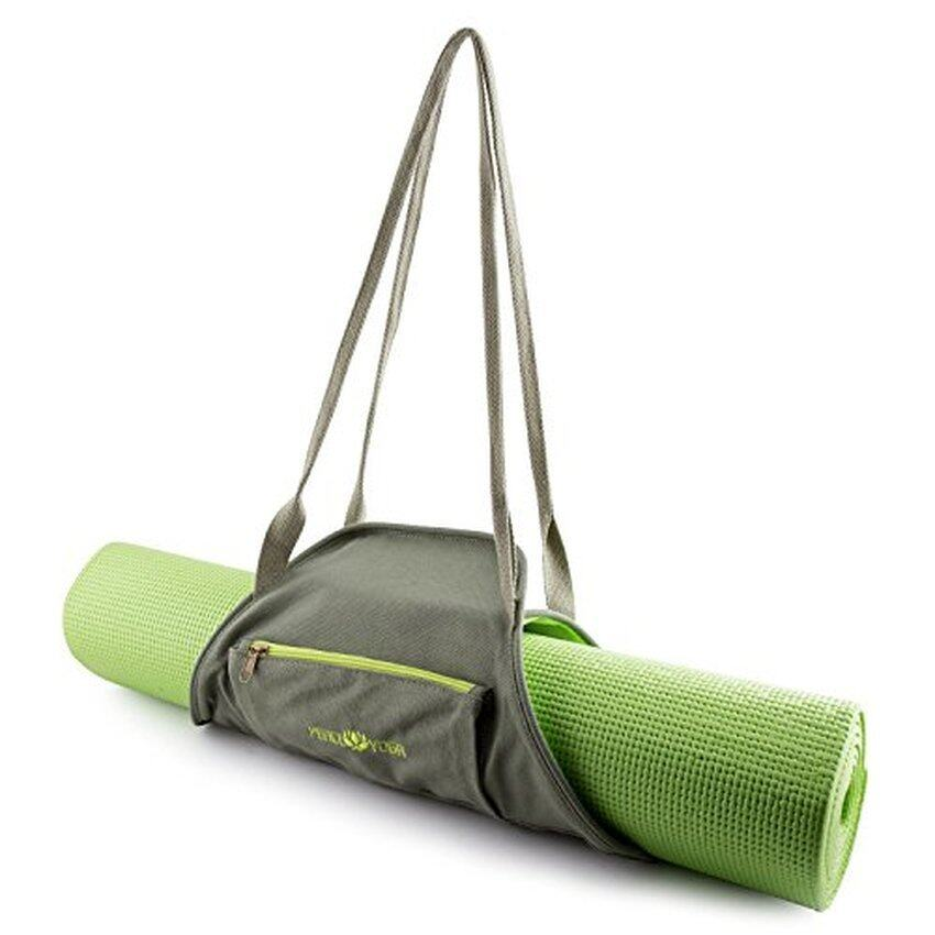 Peace Yoga® Green Yoga Mat Wrap Bag Carrier - intl .
