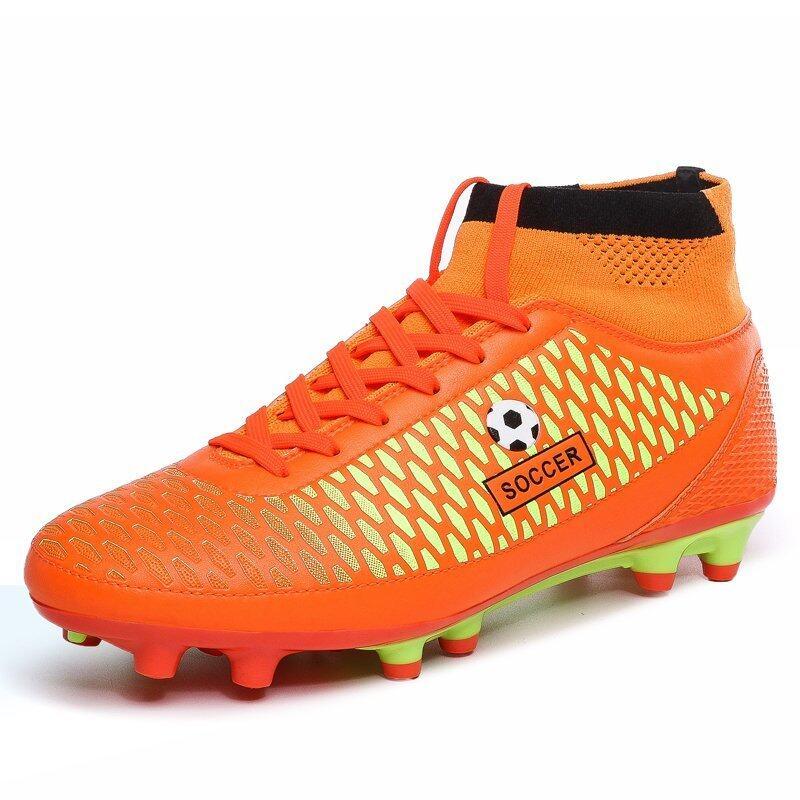 สุดยอด PINSV Men's Sports Shoes Outdoor Football Shoes (Orange) (Intl) ซื้อเลย