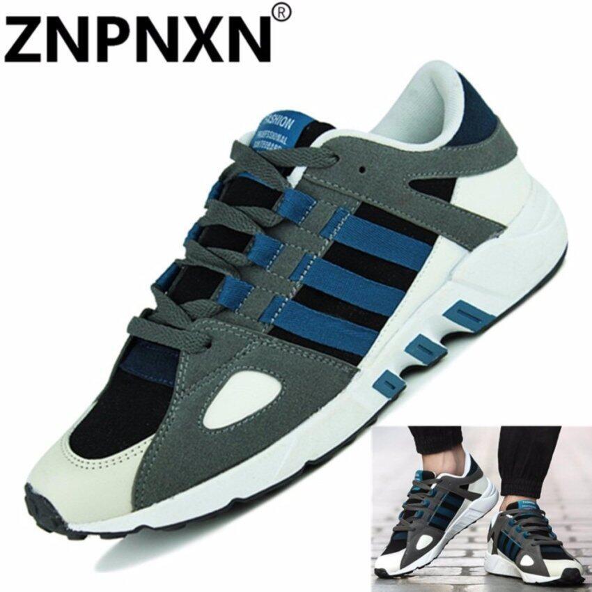 รองเท้ากีฬาของคนวิ่ง (สีน้ำเงิน)