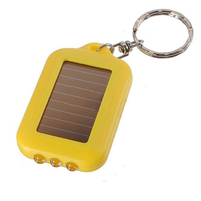 Rechargeable Flashlight Solar Mini LED (Yellow) - intl