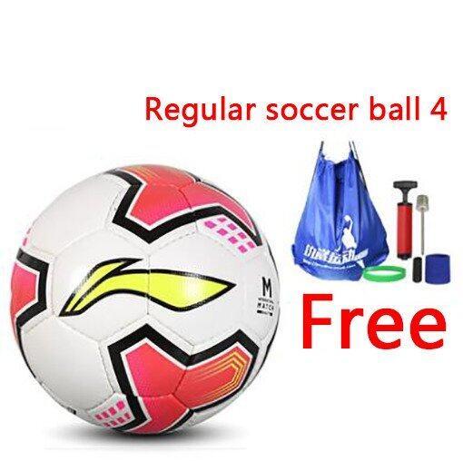 Regular soccer ball 4 Soccer Football Indoor soccer Outdoor soccer PU hand sewn football Training football - Intl