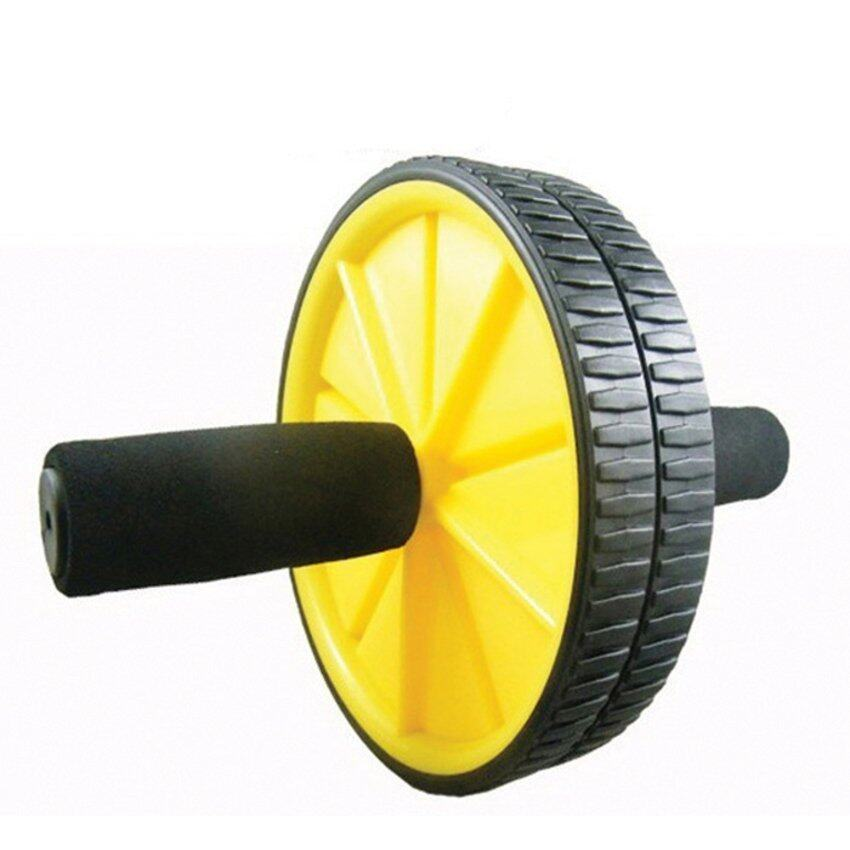 S & F Fitness Double Roller Exercise AB Wheel Fitness Abs Core Abdominal Yellow ...