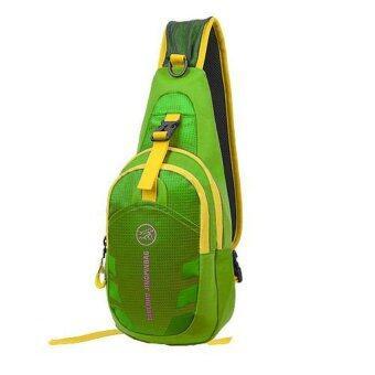 กระเป๋าสะพายไหล่กันน้ำ กระเป๋าคาดอก Shoulder Bag รุ่น D02 (สีเขียว) 1ใบ